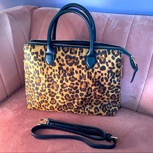 NWOT cheetah print satchel